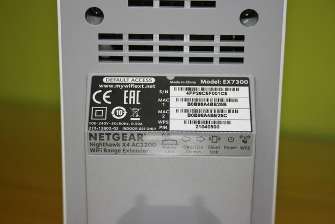 Pegatina del repetidor Wi-Fi NETGEAR EX7300