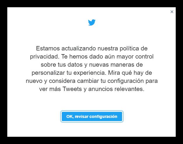 Políticas privacidad twitter actualizadas mayo 2017