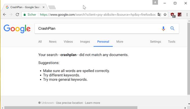 google search opcion personal busquedas