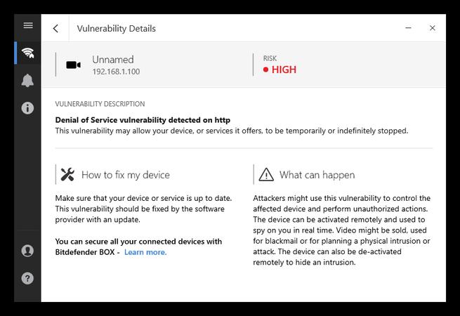 Bitdefender Home Scanner - Detalles vulnerabilidad