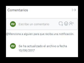 Comentarios Dropbox