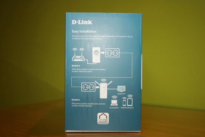 Lateral derecho de la caja del PLC de alto rendimiento D-Link DHP-W611AV