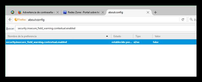 Desactivar mensaje Esta conexión no es segura Firefox