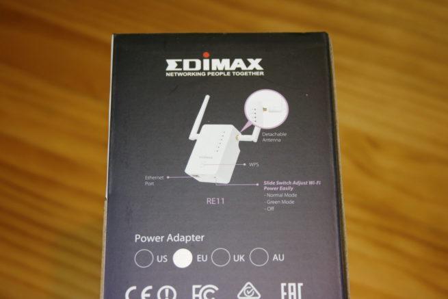 Inferior de la caja del sistema Wi-Fi Mesh del Edimax Gemini RE11S