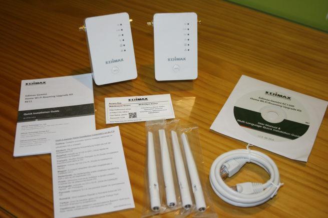 Contenido del sistema Wi-Fi Mesh Edimax Gemini RE11S