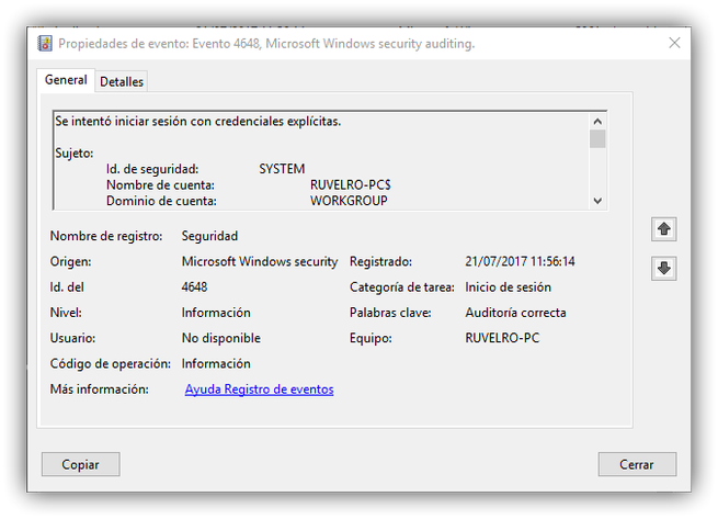 Error inicio sesion windows 10