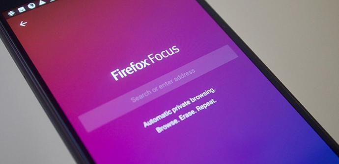Firefox Focus en móvil