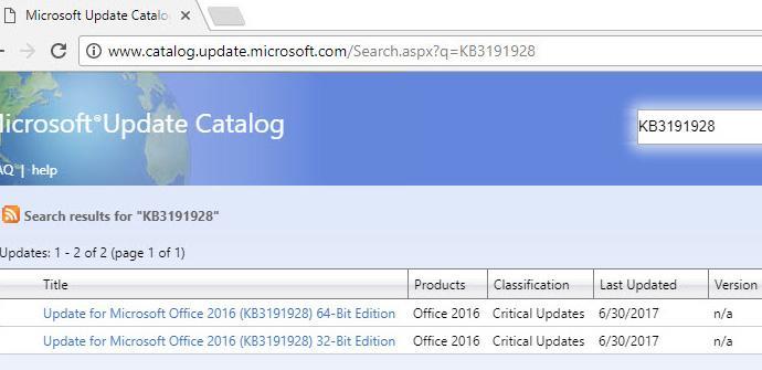 Actualizaciones de Microsoft Office para julio