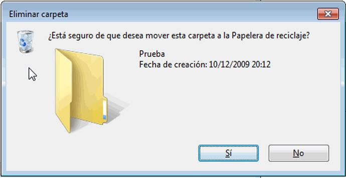 Eliminar grandes carpetas en Windows de forma rápida
