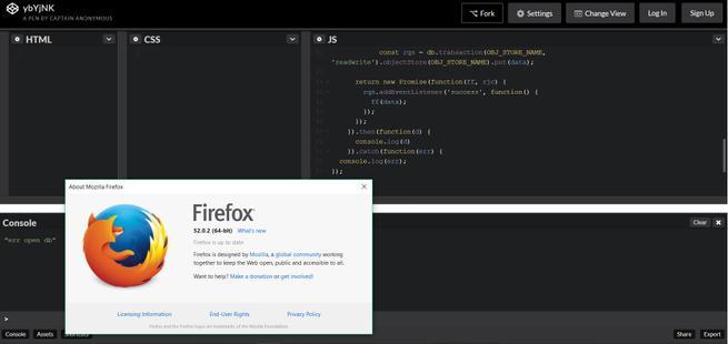 Error perfil Firefox 55