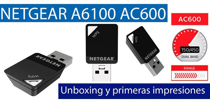 NETGEAR A6100 AC600 unboxing adaptador USB
