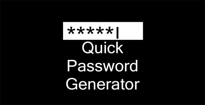 QuickPasswordGenerator, programa para generar contraseñas seguras