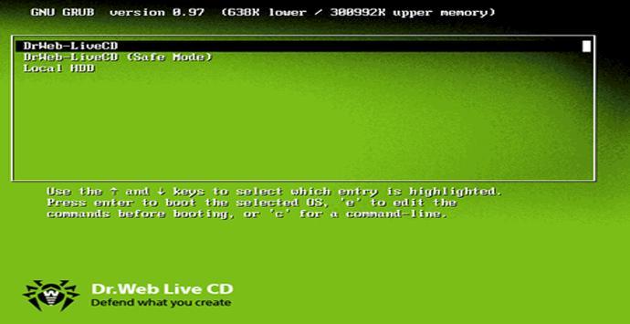 Sistema de arranque Dr. Web LiveDisk