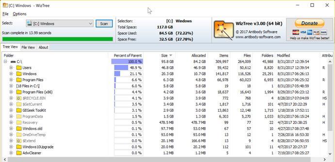 Gestor de archivos WizTree 3.0