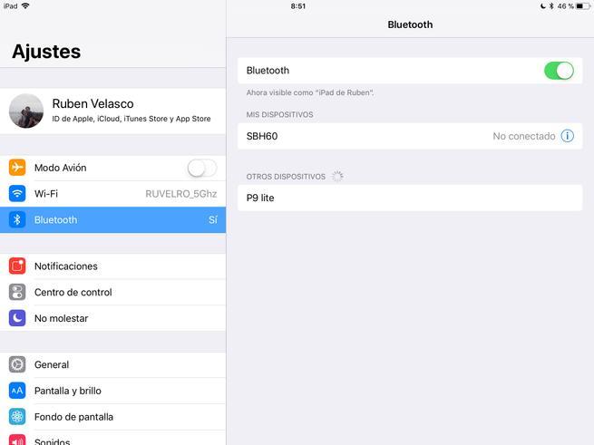 Activar Desactivar Bluetooth iOS 11