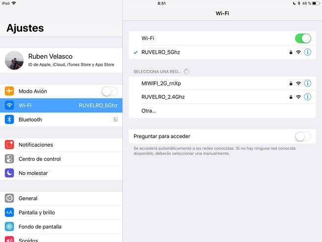Activar Desactivar Wi-Fi iOS 11