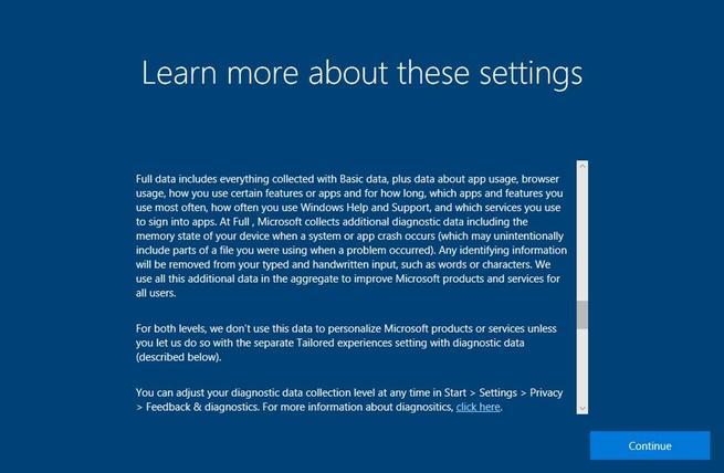 Aprender más sobre privacidad en Windows 10 Fall Creators Update
