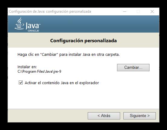 Instalación Java 9