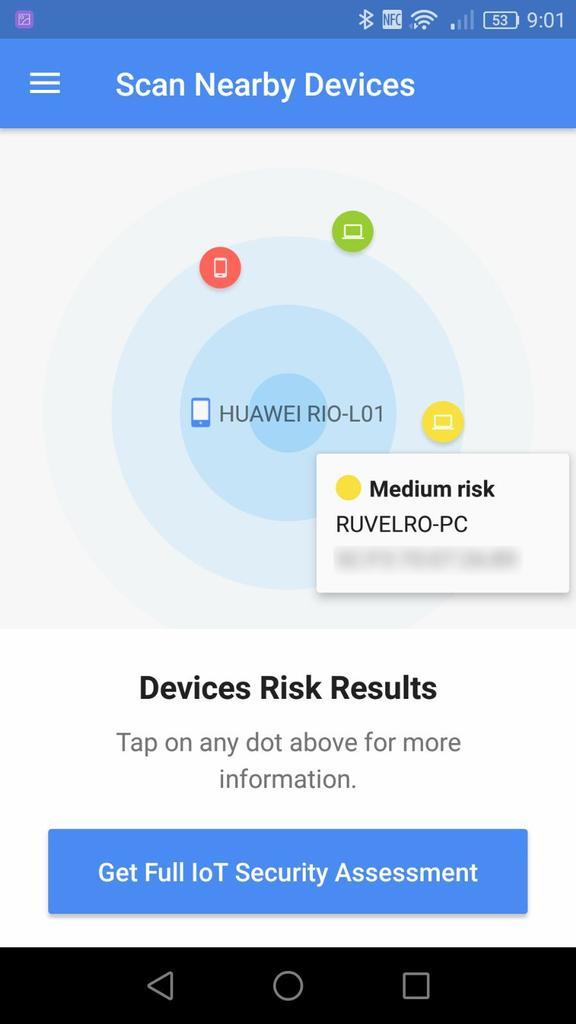 Vulnerabilidad BlueBorne - Dispositivos Bluetooth cercanos