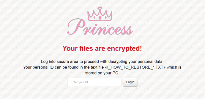 Ransomware Princess distribuido de nuevo en Internet