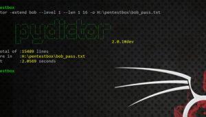 pydictor: crea un diccionario de claves fácilmente para crackear contraseñas