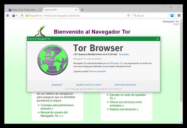 Acerca de Tor Browser 7.0.7