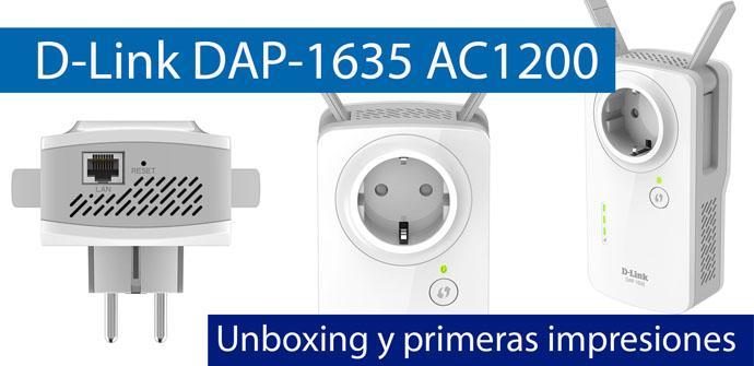 Repetidor Amplificador Extensor de Red WiFi AC 1200 D-Link DAP-1635 802.11ac hasta 1200 Mbps, Puerto LAN Gigabit 10//100//1000, 2 Antenas externas abatibles, Punto de Acceso WiFi, WPA2, WPS Blanco