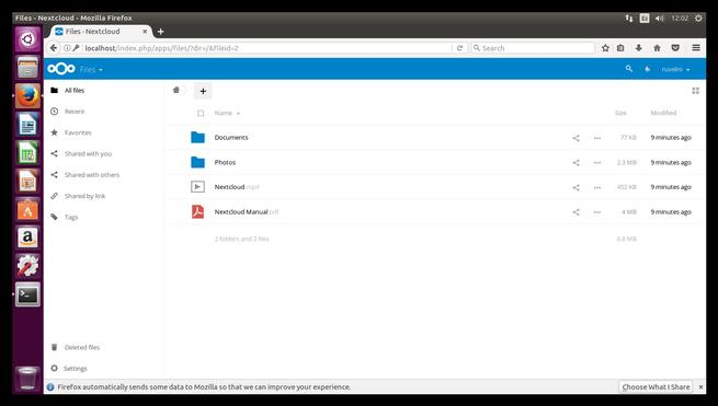 Nube privada Nextcloud Ubuntu