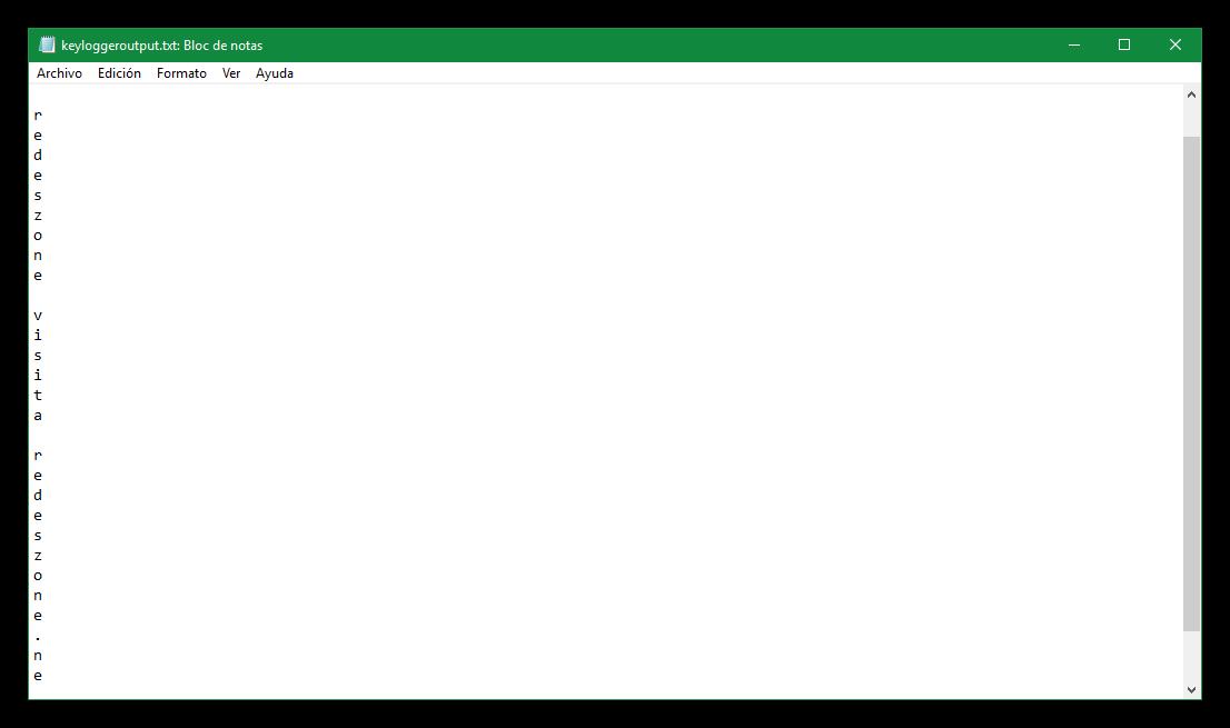 Así de fácil puede crear un Keylogger con Bloc de Notas