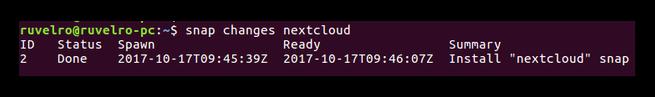 Snap Nextcloud Ubuntu