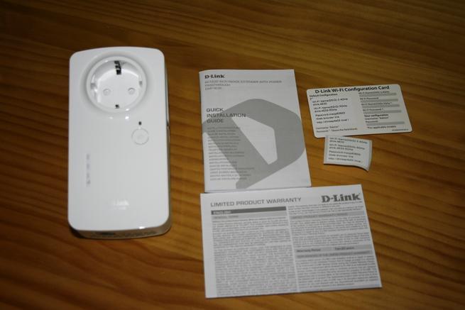 Contenido de la caja del repetidor Wi-Fi D-Link DAP-1635