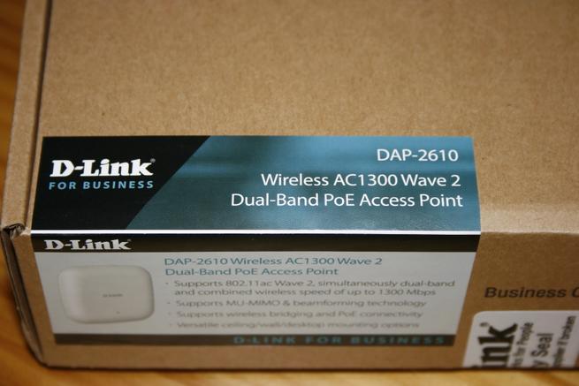 Pegatina del AP profesional D-Link DAP-2610 con sus características