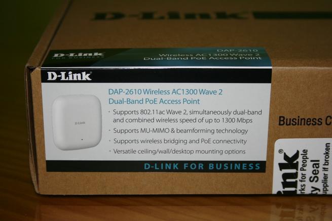 Características técnicas del AP profesional D-Link DAP-2610 en detalle
