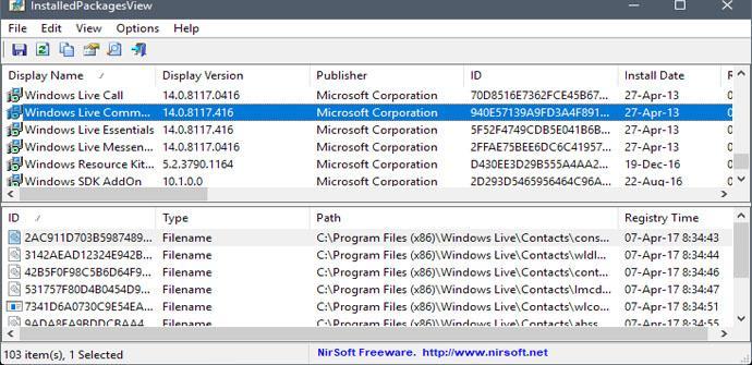 Controlar los programas instalados en Windows con InstalledPackagesView
