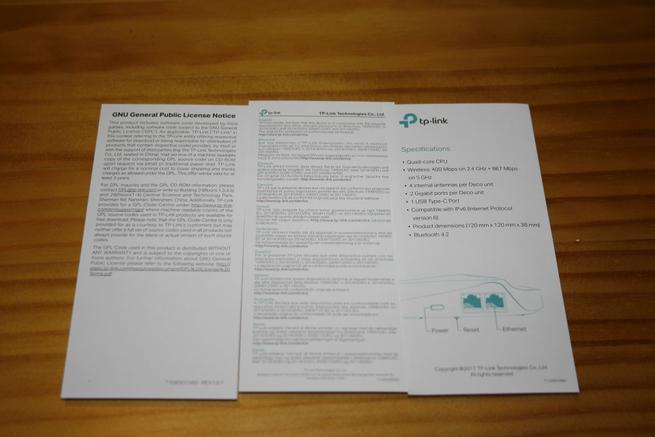 Documentación del TP-Link Deco M5 con sus principales características