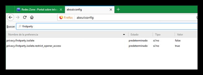 Firefox función seguridad FPI