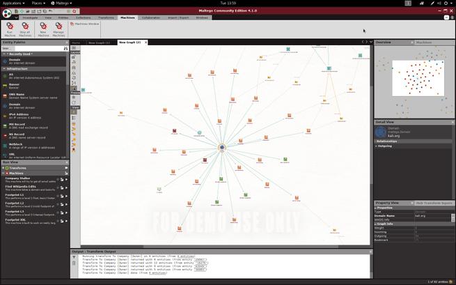 Kali Linux 2017.3 Maltego