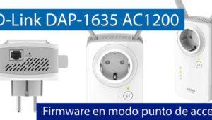 Conoce el firmware del D-Link DAP-1635 en modo punto de acceso Wi-Fi