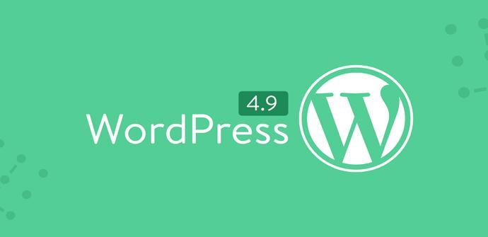 Novedades de WordPress 4.9