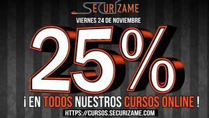 Securízame se une al Black Friday 2017 con un 25% de descuento en sus cursos online