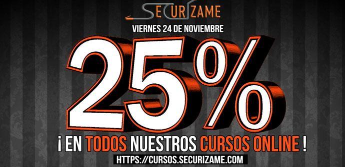 Ver noticia 'Securízame se une al Black Friday 2017 con un 25% de descuento en sus cursos online'