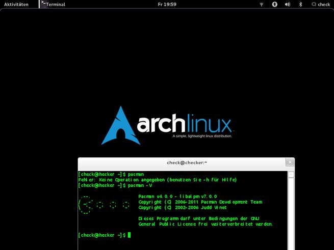 Arch Linux y GNOME