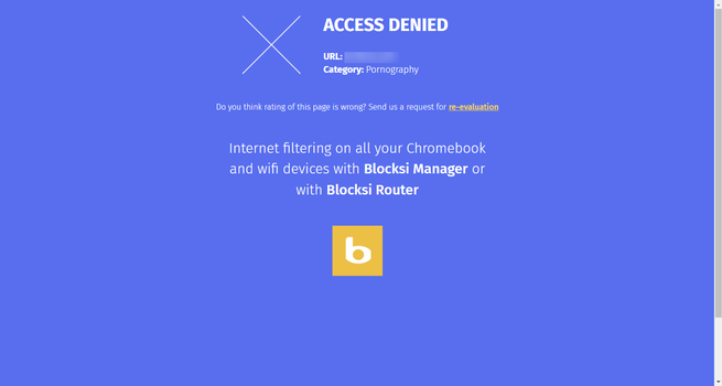 Blocksi Web Filter - Web bloqueada