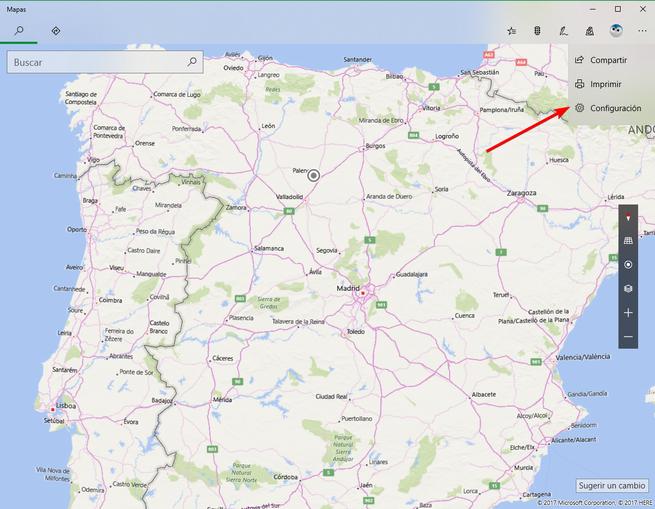 Configuración Mapas de Bing