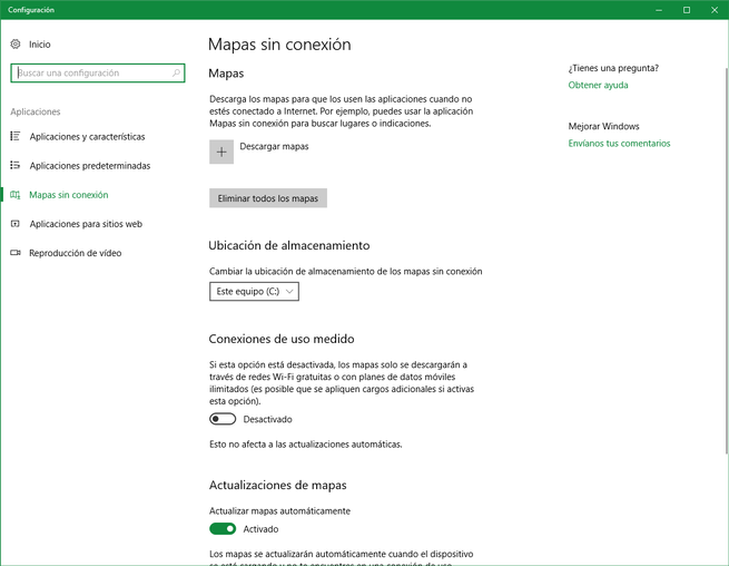 Descargar Mapas de Bing en Windows 10