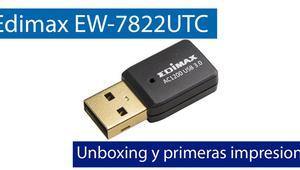 Edimax EW-7822UTC: Conoce este adaptador Wi-Fi USB 3.0 con Wi-Fi AC1200