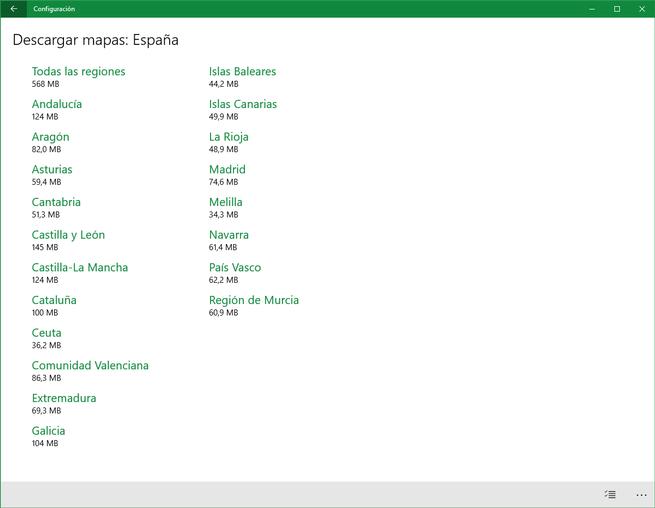 Maps de Bing para España