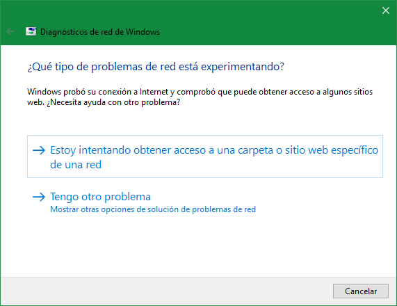 Solucionar problemas de red Windows