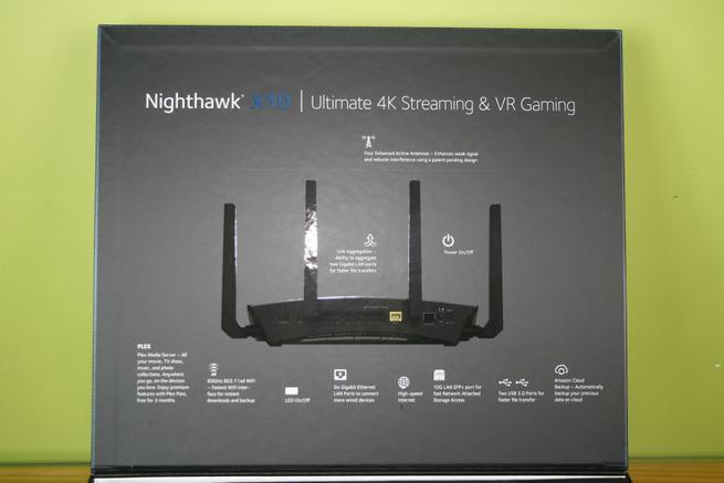 Descubre todos los puertos y botones del router NETGEAR R9000 Nighthawk X10
