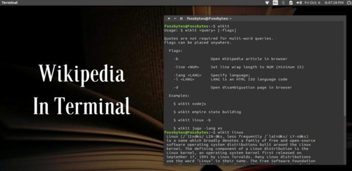 Buscar y utilizar en Wikipedia en la terminal